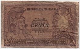 Billet De Banque ITALIE - 100 Lire De 1951 - 100 Lire
