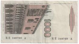 Billet De Banque ITALIE - 1000 Lire De 1982 - [ 2] 1946-… : Repubblica