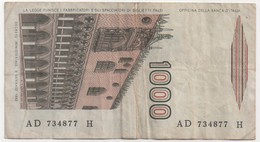 Billet De Banque ITALIE - 1000 Lire De 1982 - [ 2] 1946-… : Républic