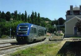 RU 1345 - Autorail X 73790 En Gare - EYMOUTIERS LAC DE VASSIERES - Haute Vienne 87 - SNCF - Eymoutiers