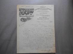 SEDAN ENTREPOT GENERAL DE LA FABRIQUE L.COURTEHOUX USINE A VAPEUR A GAULIER COURRIER DU 3 9bre 1906 PAPIER JAUBERT'S PAP - 1900 – 1949