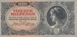 10 000 PENGO, TIZEZER PENGO, 1946, BLUE PAPER BANKNOTE ,HUNGARY. - Ungarn