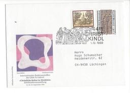 15975 - Christkindl  Cover 01.12.1993 Pour Lüchingen CH Christkiche Kultur In Altsstätten - Noël