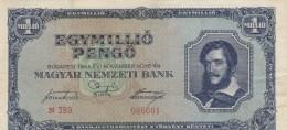 1000 000 PENGO, EGYMILLIO PENGO, 1945, BLUE PAPER BANKNOTE ,HUNGARY. - Hongrie