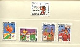 415692457 DB 1988 Burkin POSTFRIS MINT NEVER HINGED POSTFRISCH EINWANDFREI  Yvert 770 - 774 Olympische Spelen - Burkina Faso (1984-...)
