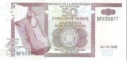 Burundi - Pick 36e - 50 Francs 2005 - Unc - Burundi