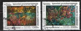 CAMBOGIA - 2001 - SCULTURE BAYON - USATI - Kambodscha