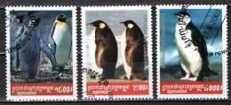 CAMBOGIA - 2001 - PINGUINI - USATI - Kambodscha