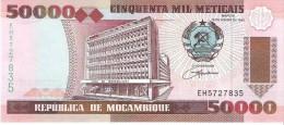 Mozambique - Pick 138 - 50.000 (50000) Meticais 1993 - Unc - Mozambico