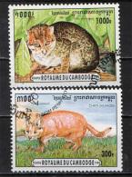 CAMBOGIA - 1996 - GATTI SELVATICI - WILD CATS - USATI - Cambogia
