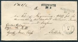 Altdeutschland Preussen Vorphila. Stepenitz Paket - Stettin - Germany