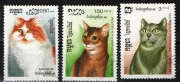 CAMBOGIA - 1988 - GATTI DOMESTICI - CATS - USATI - Cambogia