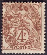 FRANCE  1900  -  Y&T  110  Type I   Blanc  - NEUF * - Cote 3e - 1900-29 Blanc