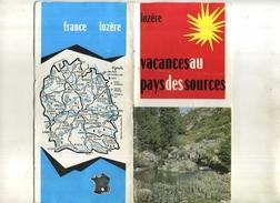 FRANCE . LOZERE . VOYAGE AU PAYS DES SOURCES . FASCICULE TOURISTIQUE  . - Reiseprospekte