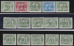 Nederland   .     NVPH   .     357/371     .      *        .        Ongebruikt Met Gom .     /       .    Mint-hinged - Unused Stamps