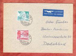 Luftpostbrief, MiF Seedamm Bei Melide U.a., Zuerich Nach Berlin-Friedenau 1953 (33967) - Svizzera