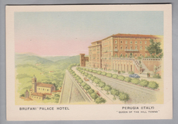 AK Motiv Hotel Brufani Palace Hotel Perugia Italien Ungebraucht - Hotels & Restaurants