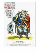 Carte-maximum 17e Congres Philatélique Lorrain IMAGERIE EPINAL Chat Botté 1er Jour Oct 1992 - Cartes-Maximum