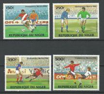 """Niger Aerien YT 329 à 332 (PA) """" Football, Mexico """" 1984 Neuf** - Níger (1960-...)"""