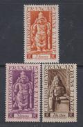 Inde N° 249 / 51  X  Partie De Série  Divinités : Les 3 Valeurs Trace De Charnière Sinon TB