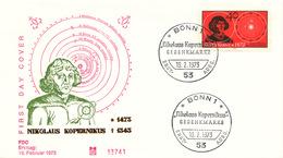 L2654 - BRD (1973) Bonn 1 (FDC) Nicolaus Copernicus (1473-1543) Renaissance Mathematician And Astronomer