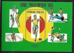 """Togo Bloc YT 174 """" Année Préolympique """" 1983 Neuf** - Togo (1960-...)"""