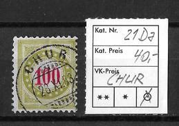 NACHPORTOMARKEN → SBK-21Da, CHUR 28.XI.93 - Portomarken