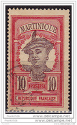 Martinique 1908, Island Woman, 10c, Used - Used Stamps