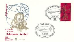 L2662 - BRD (1971) Bonn 1 (FDC) Johannes Kepler (1571-1630) German Mathematician, Astronomer, And Astrologer