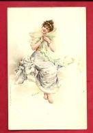 FJK-25  Jeune Femme En Tenue D'hiver.  Circulé En Italie, Circulé Sous Enveloppe En 1909. - Fashion