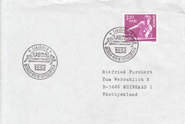 TABLE TENNIS-PING PONG-TISCHTENNIS-TENNIS DE TABLE-TENNIS TAVOLO, SWEDEN, 1987, Special Postmark !! - Tennis Tavolo