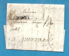 Morbihan - Ploermel Pour Guerande (Loire Inférieure). MP Lenain N°5. LAC De 1773 - Marcophilie (Lettres)