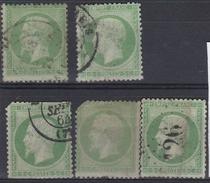 France 1862 - N°20(o) - Lot De 5 Napoléon III - 1862 Napoleon III
