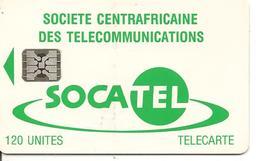CARTE-PUCE-CENTRE AFRIQUE-120U-SC4-SOCATEL-VERT-N°Ge 43771-UTILISE-TBE - Centraal-Afrikaanse Republiek