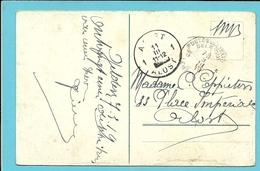 Kaart (REMAGEN) Met Stempel PMB 5 Op 9/3/19 Met Als Aankomst Stempel AALST / ALOST 1 Met Geblokeerd Jaarblok !! - Postmark Collection