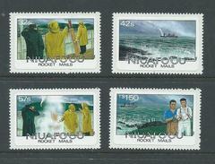 Tonga Niuafo´ou 1985 Rocket Mail Set Of 4 MNH - Tonga (1970-...)
