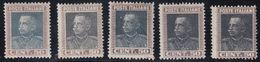 Regno, 1927, 50 C. N.218, Varietà, Variety,Centro Di Colore Diverso NERO, UNICO - 1900-44 Victor Emmanuel III