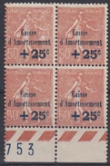 France 1928 - Caisse Amortissement N°250* - Bloc De 4 Timbres Nsg - Sinking Fund