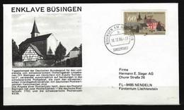 BUND - SONDERBELEG Enklave Büsingen Am Hochrhein 10.12.86 Sondertarif - Post