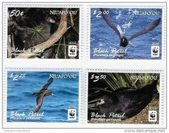 WWF W.W.F. Niuafo´ou Black Petrel Bird MNH Perf Stamps 2016 - W.W.F.