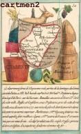 RARE GRAVURE POCHOIR DU XIXeme SIECLE : DEPARTEMENT DE LA CHARENTE CARTE GEOGRAPHIQUE 16 - Francia