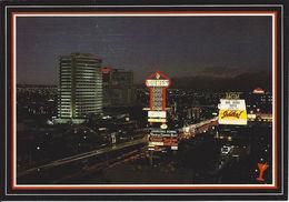 Looking North-West Up The Fabulous Las Vegas Strip - Las Vegas, NV - Vegas Nights Post Card From Western Supply - Las Vegas