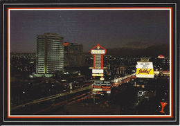 Looking North-West Up The Fabulous Las Vegas Strip - Las Vegas, NV - Vegas Nights Post Card From Western Supply