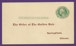 Postal Card. Scott UY6  1 Cent Green. WASHINGTON. 1911, Oct. 27. Unaddressed