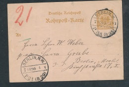 Rohrpost-Beleg   ( G5386 ) Siehe Foto - Allemagne