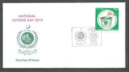 PAKISTAN 2016 CELEBRATION OF NATIONAL VOTERS DAY  FDC - Pakistan