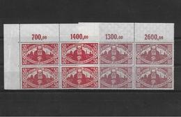 ALLEMAGNE REICH DANZIG1923 Mi 131-132 VIERERBLOCKS MNH/** - Coordination Sectors