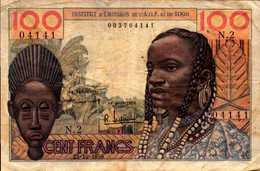 INSTITUT D'EMISSION A.O.F Et Du TOGO 100 FRANCS Du 23-10-1956 Pick 46 - Togo
