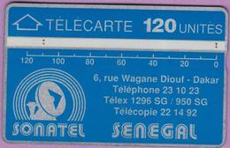 SENEGAL °° 120 Unités – Verso Inversé 012A29034 °° LUXE - Sénégal