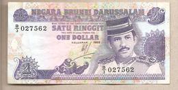 Brunei - Banconota Circolata Da 1 Dollaro - 1989 - Brunei
